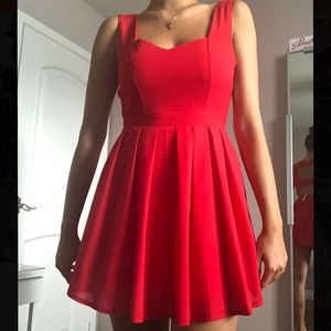 Cute red sweetheart dress